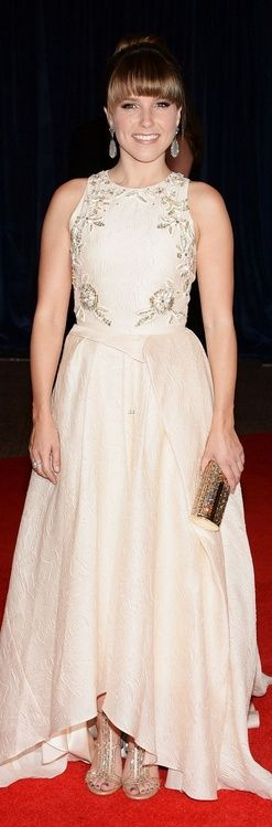 Who made Sophia Bush's silver clutch handbag, sandals, gown, and jewelry that she wore in Washington D.C. on April 27, 2013? Dress – Lela Rose  Purse – Jimmy Choo  Shoes -Rene Caovilla  Earrings – Sutra  Ring – Amrapali