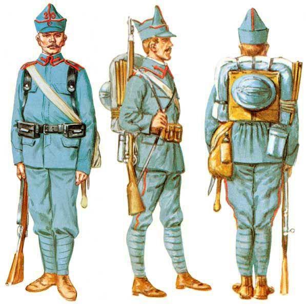 Rumuński mundury wojskowe w 1916 roku