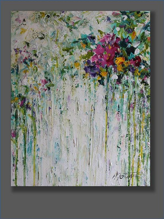 Best 20 abstract flower paintings ideas on pinterest for Modern flower paintings