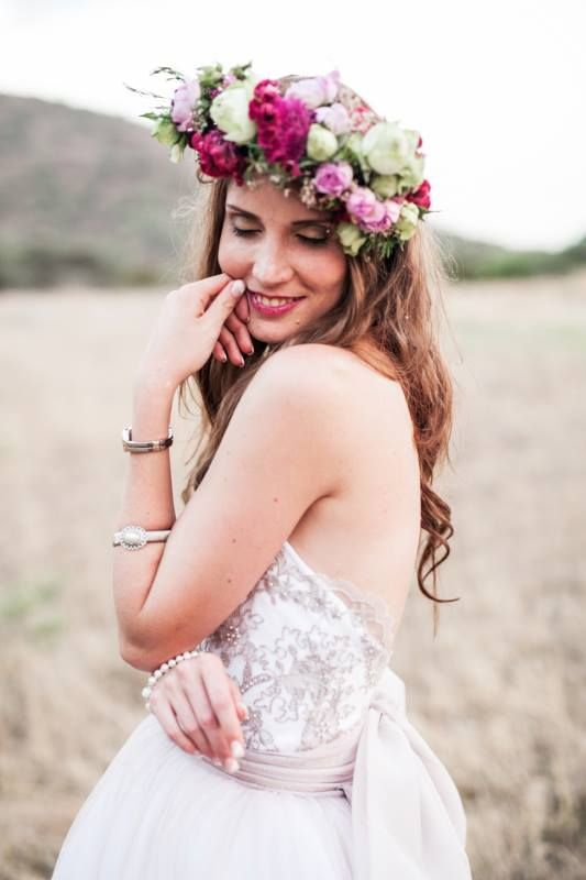 Bohemian bride, South-Africa. Him&Her Pictures