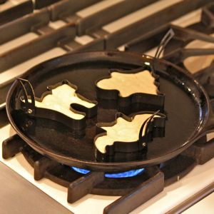 Pannenkoeken in vormpjes bakken