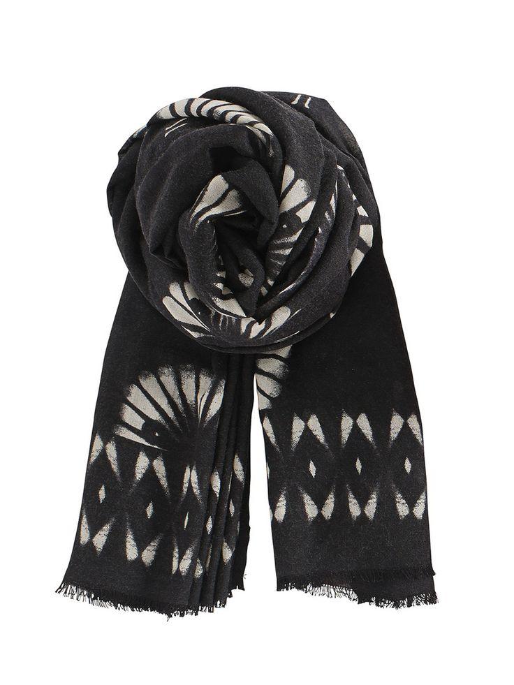 #BeckSondergaard peacock scarf black