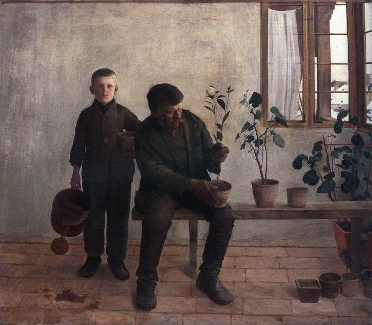 Károly FERENCZY, Gardeners - 1891, Oil on canvas, 135 x 156 cm - Magyar Nemzeti Galéria, Budapest