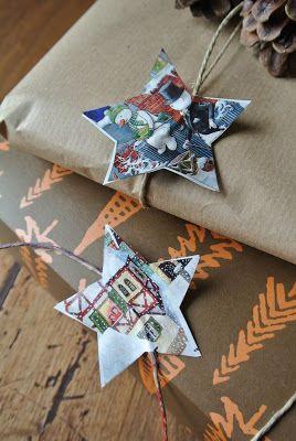 #Christamas #paper #stars #gift #DIY #ultimissimedallorto
