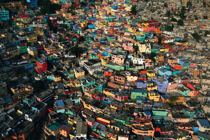 Jalousie, a shantytown on the edge of Pétionville, a suburb of Port-au-Prince, Haiti. Photographer Yann Arthus-Bertrand, well known for his Earth From Above project, has a new movie coming out titled HUMAN.