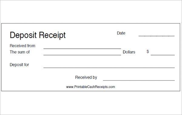 Deposit Receipt Templates 11 Free Printable Word Excel Pdf Formats Word Template Receipt Template Microsoft Word Templates