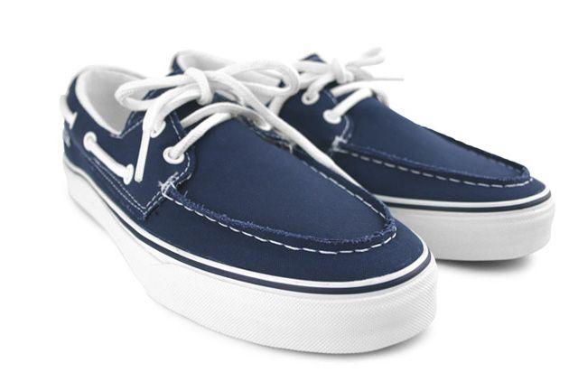 Blue Boats Shoes White Laces