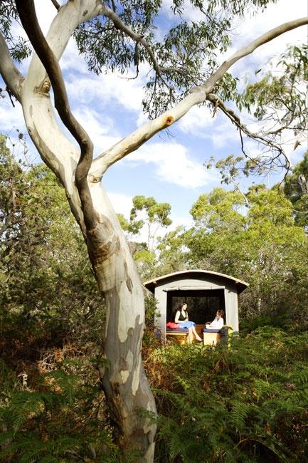 Wilderness Hut.  Maria Island Tasmania Australia. The whole island is a national park