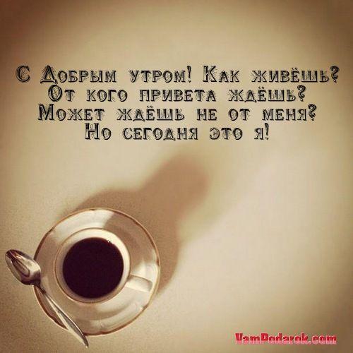 Прикольные пожелания с добрым утром - «С Добрым утром! Как живёшь…»