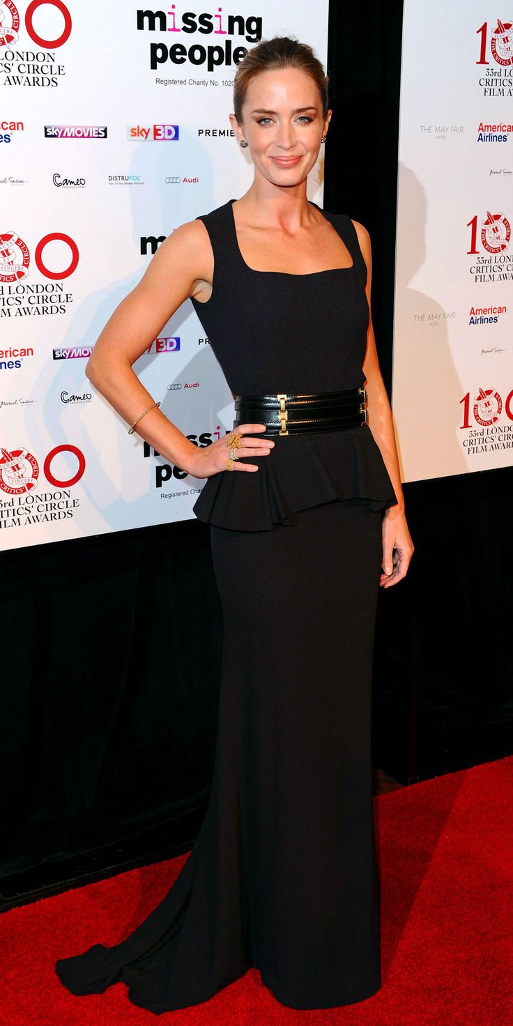 Zoomed Emily Blunt at London Critics' Circle Awards