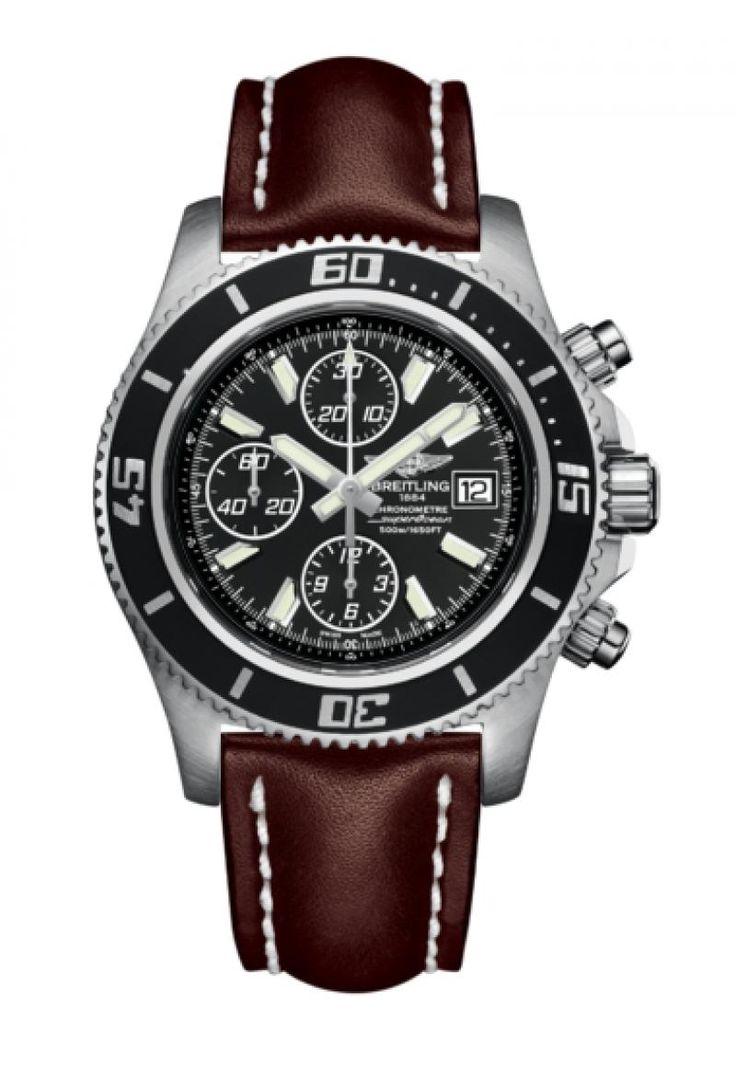 Breitling A1334102/BA84/437X/A20BASA.1 SuperOcean CHRONOGRAPH II - швейцарские мужские наручные часы - черные часы