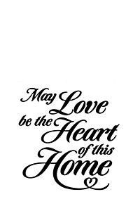 MAY LOVE BE 34X38CM VINAL WALL STICKER