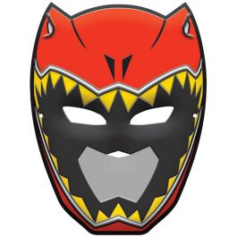 It's time to get charged up! The birthday boy can take the lead with our Power Rangers Dino Charge Vacuform Mask. This cool plastic mask looks just like the Red Rangers, T-Rex helmet and has eye-and mouth holes for easy breathing. It stays in place with the attached plastic band and sets him apart even more at his dino-blasted birthday bash. The plastic mask measures 10 inches tall by 7-1/2 inches wide at its widest points.