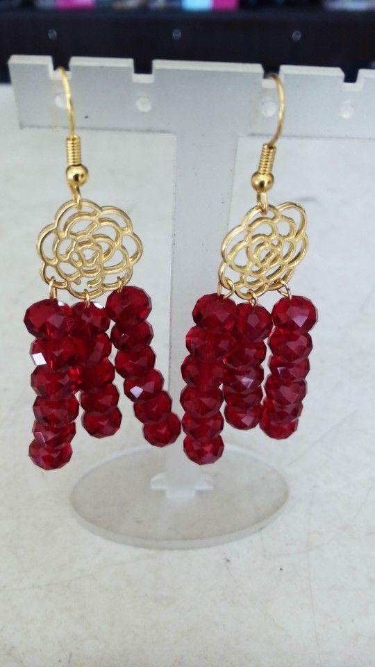 Handmade earrings designed by Elli lyraraki!!