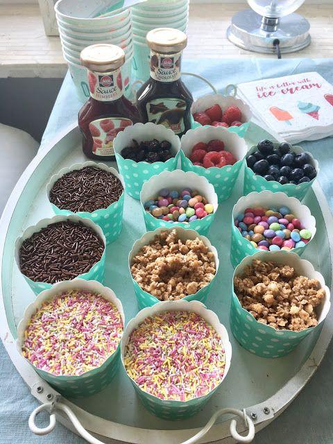 Glücksfeder: Nie wieder Muffins: Unser cooles Eisbüfett zum Kindergeburtstag – Glücksfeder