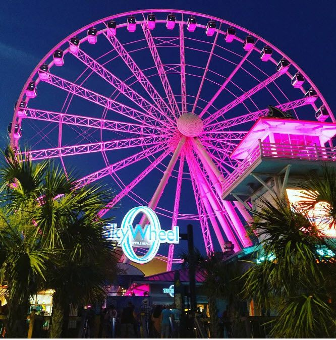 SkyWheel Myrtle Beach has 42 glass-enclosed, temperature controlled gondolas for your pleasure and operates year round! | Myrtle Beach | South Carolina | Family Fun | Things To Do