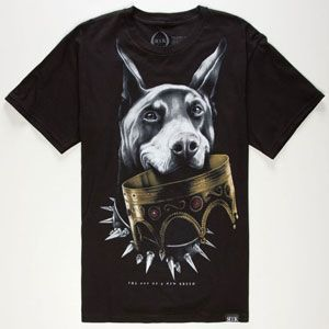 #ROOK Doberman Crown Mens T-Shirt 230475100
