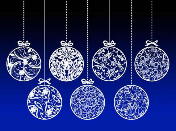 Christmas Ornaments Vintage Decorations Xmas Vintage Baubles Christmas Baubles Decor Digital Clipart Clip Art Graphics Circle WHITE 10403. $5.50, via Etsy.