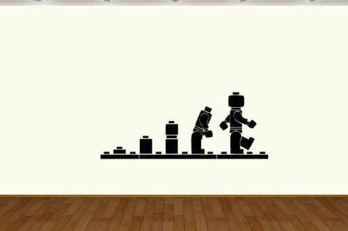 lego aap evolutie kunst aan de muur sticker vinyl muursticker home decor home decoratie(China (Mainland))