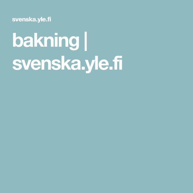 bakning   svenska.yle.fi
