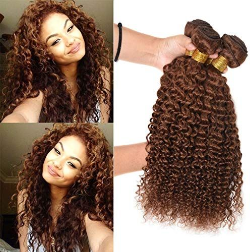 Best Seller FASHION LADY Hair Deep Curly Weaves Peruvian Human Hair Weft 4 Bundles 30 Dark Auburn Color Jerry Curly Hair Weave Extensions 100g/bundle( 30,18 20 22 24 inch) online
