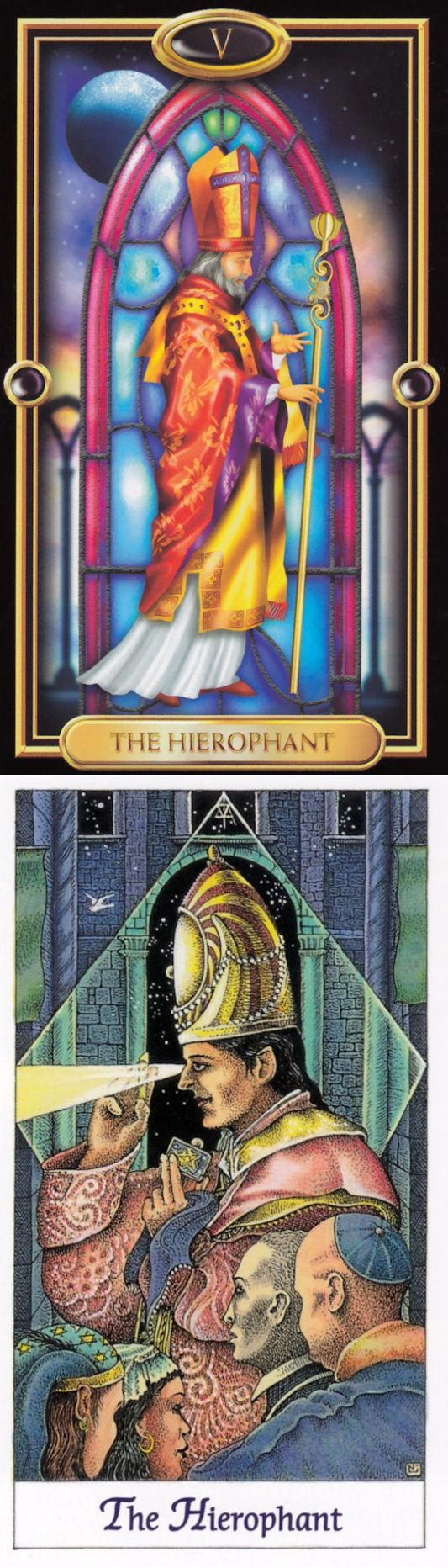 THE HIEROPHANT: tradition and rebellion (reverse). Gilded Tarot deck and Cosmic Tarot deck: tarotmucha, tarot live yes or no vs free online tarot reading yes or no. New playing cards and psychic readings questions. #tarotchart #empress #