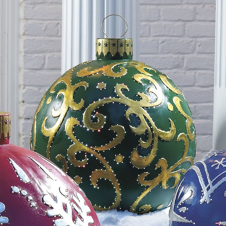 25+ unique Large outdoor christmas ornaments ideas on Pinterest - lighted christmas yard decorations