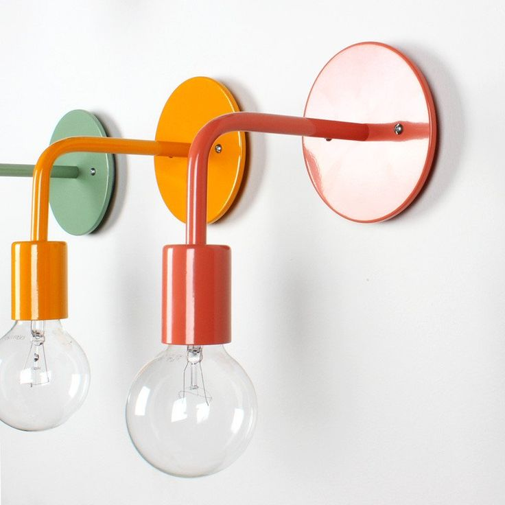 Colored wall sconce