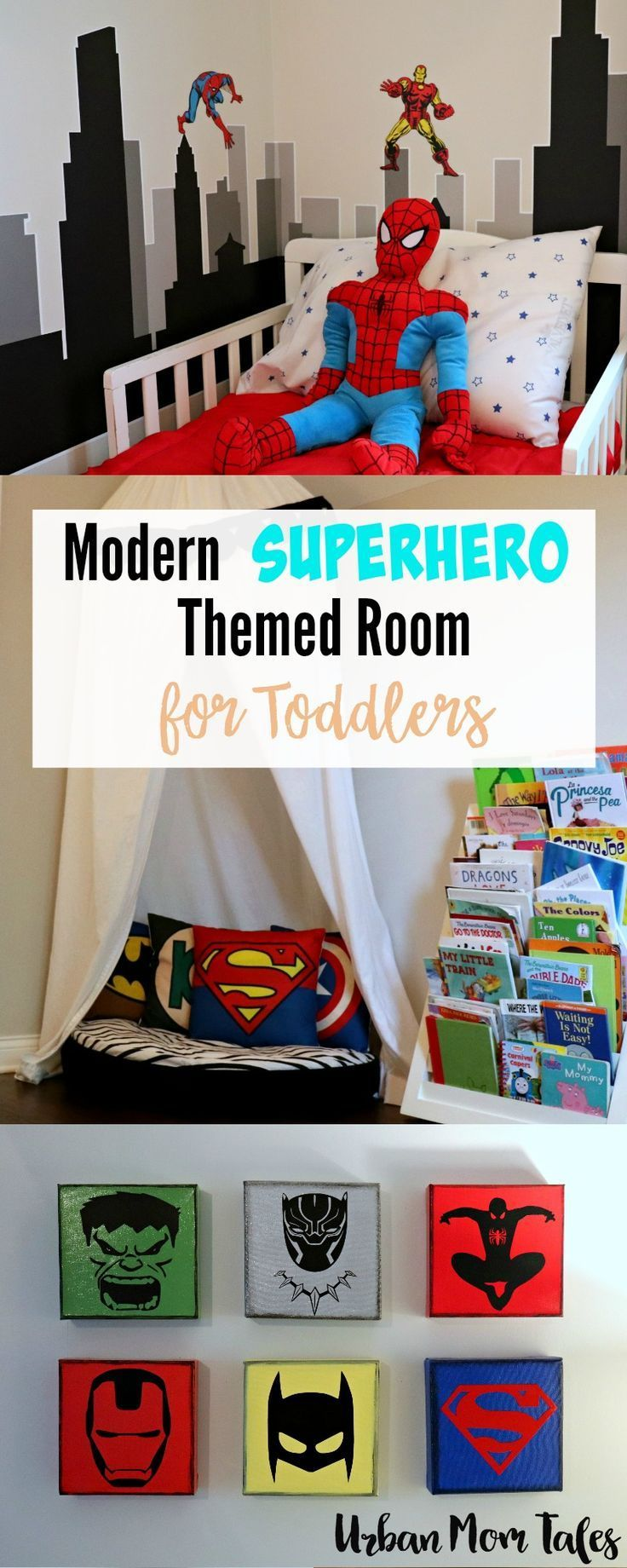 Modern Superhero Themed Room For Toddlers Boy Room Themes Boy