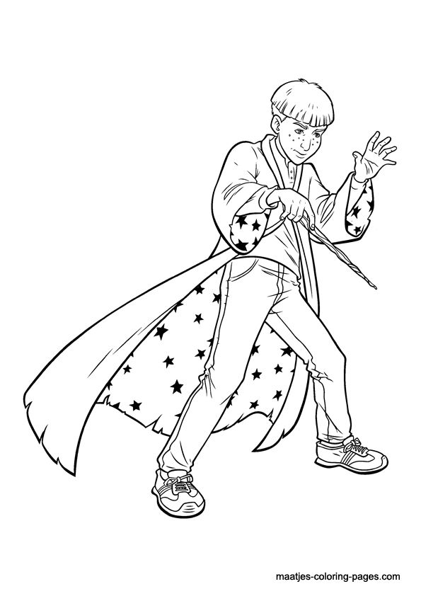 free printable harry potter coloring pages for kids - Harry Potter Coloring Pages For Kids