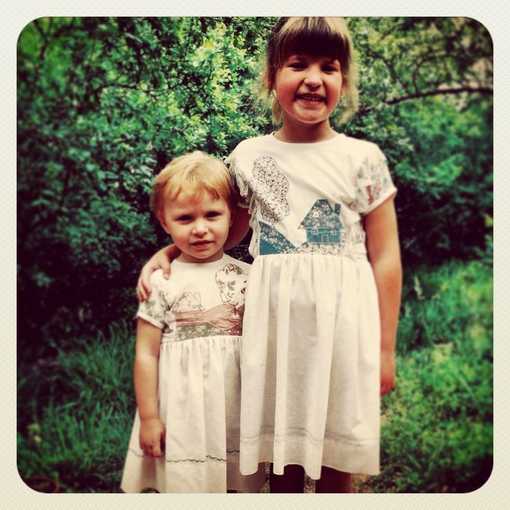 My little sister and I back when were just kids. And where wearing the same clothes was cool.