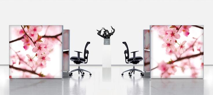 Vrolijke kantoorinrichting
