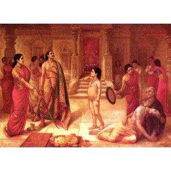 Mohini and Rukmangada (Ravi Varma Print)
