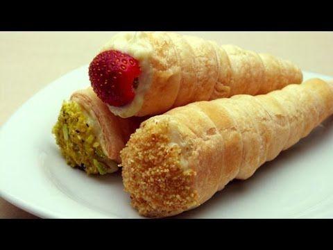 Külah Pasta | Milföy Hamurundan Yaş Pasta Tarifi - YouTube