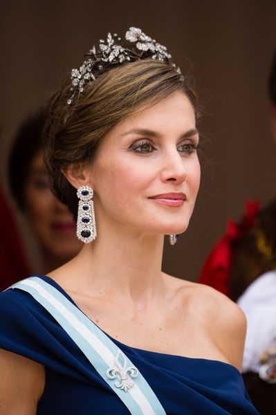 Queen Letizia of Spain attends the Lord Mayor's Banquet at the Guildhall during a State visit by the King and Queen of Spain on July 13, 2017 in London, England. This is the first state visit by the current King Felipe and Queen Letizia, the last being in 1986 with King Juan Carlos and Queen Sofia. - State Visit of the King and Queen of Spain - Day 2