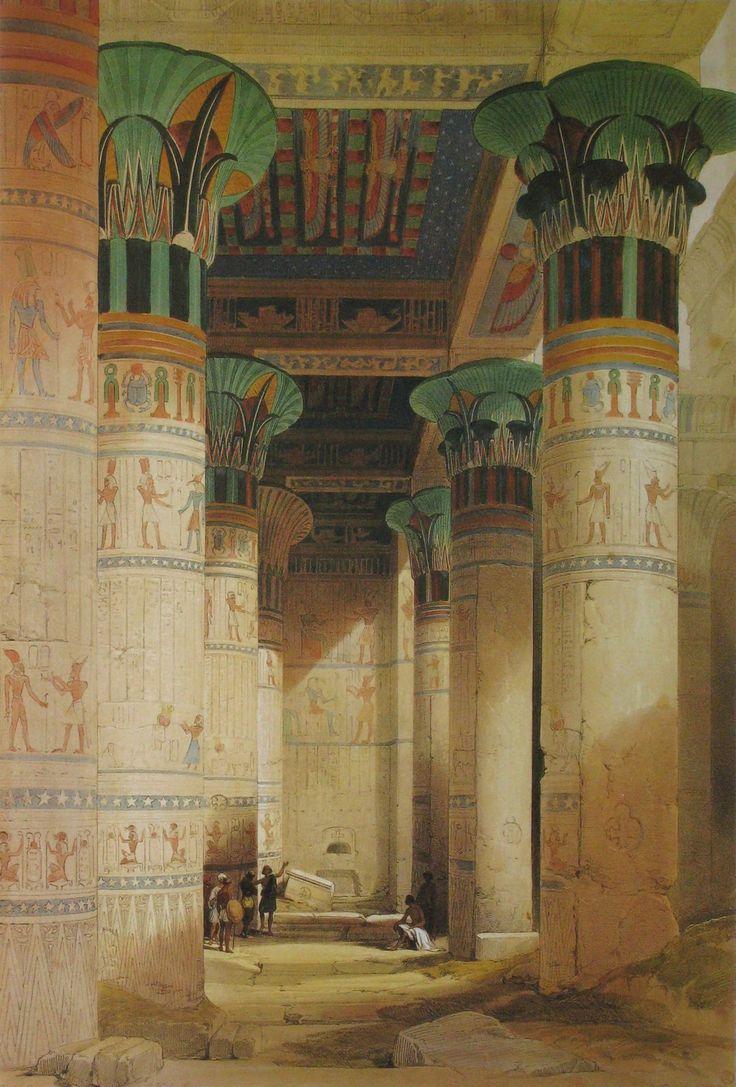 recración de columnas pintadas