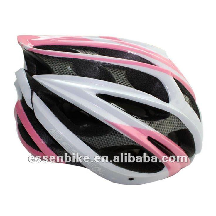 2015 rosa acabamento de carbono capacete da bicicleta