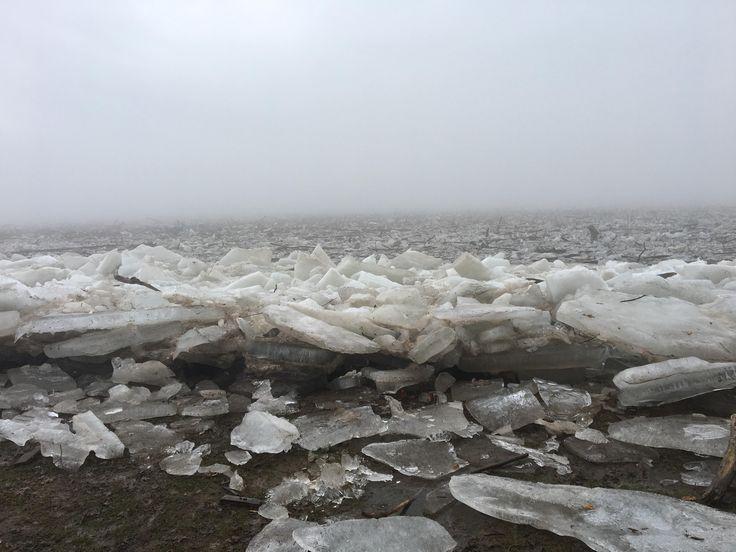 The Susquehanna River is frozen
