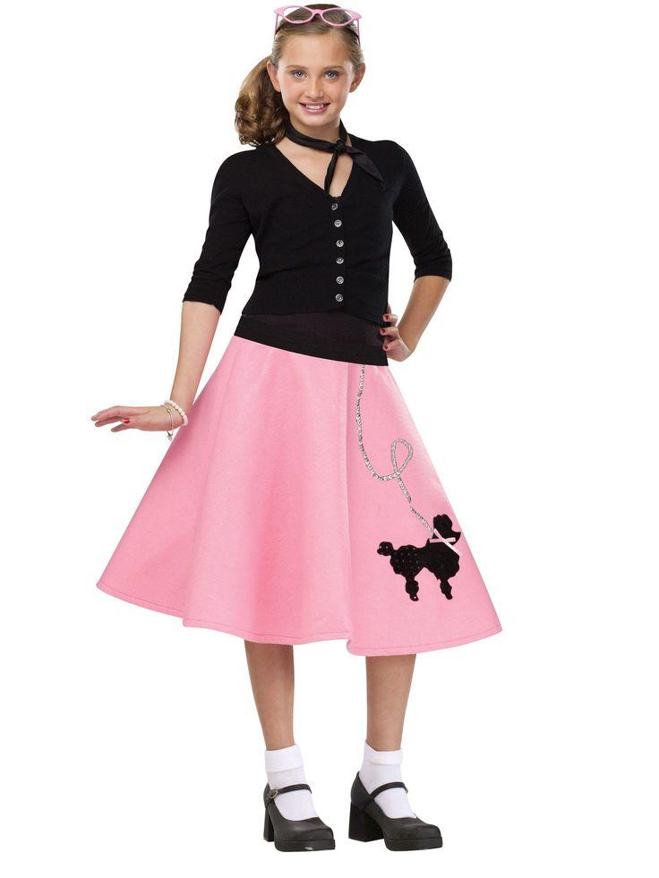Poodle-Skirt-Girl-039-s-Costume