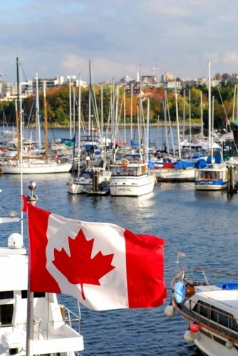 Granville Island Marina, downtown Vancouver, BC. Click for more incredible Canadian destinations...