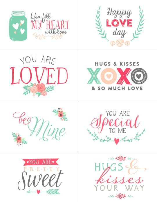 Free Valentines day labels                                                                                                                                                                                 More