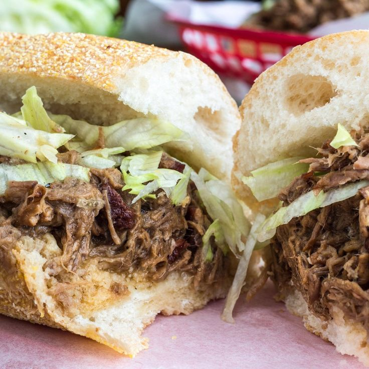Of all the delicious meals I have had the pleasure of eating in New Orleans, by far my favorite is a drippy, sloppy, saucy roast beef po' boy. Perhaps lesser known than its fried seafood sibling, I much prefer the garlicky slow-cooked sandwich swimming in its own rich, roux-thickened gravy.