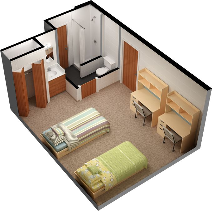 Wonderful Ravine Complex Residence Room Layout. These Rooms Are Approximately 12ft  Wide And 13 Feet Deep Part 13