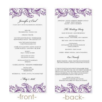 Best Wedding Ideas Images On   Wedding Program