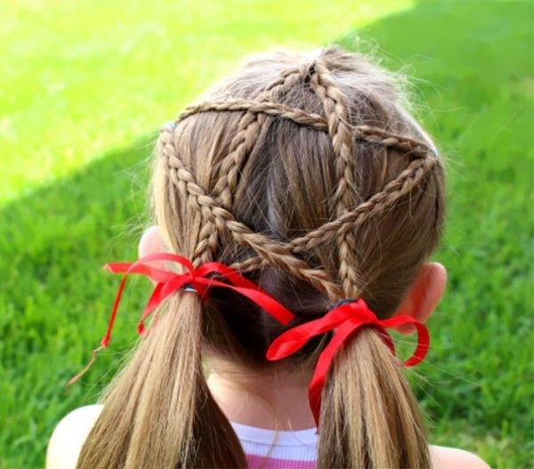 Super Cool Christmas Hairstyles For Girls With Long Hair Cute Christmas Hairstyles Littlegirls Princess Christmas Hair Christmas Hairstyles Star Hair
