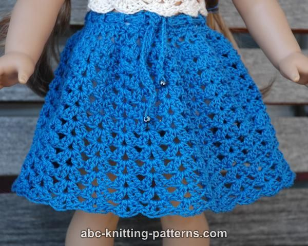 Knitting Pattern For Dolls Skirt : 17 Best images about 18