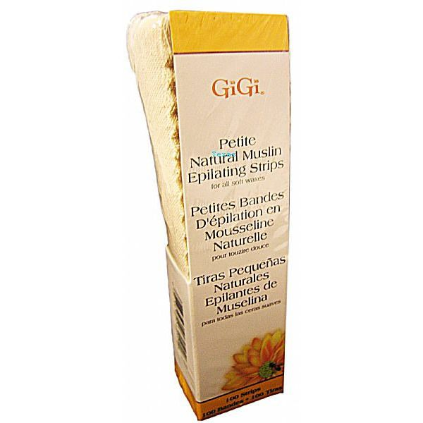 Gigi Wax Natural Muslin Epilating Strips - 100 ct