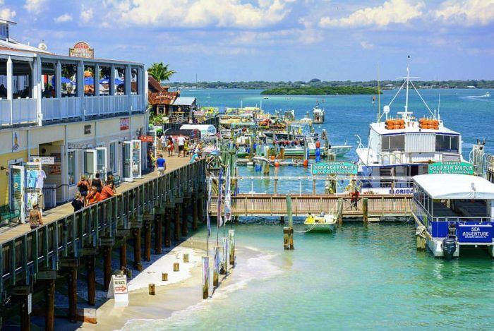 John's Pass Village & Boardwalk is located at 12901 Gulf Blvd, Madeira Beach, FL 33708. This historic fishing village is packed with all kinds of fun attractions.
