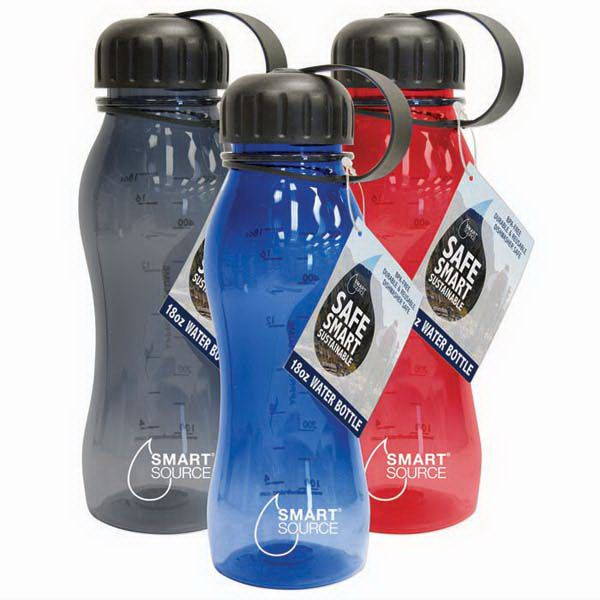 18oz/500mL BPA-FREE EASTMAN TRITAN PLASTIC WATER BOTTLES
