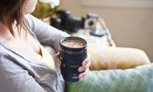Groupon - One ($ 16.99) or Two ($29.99) Camera Lens Mugs (Delivery Included), Up to 58% Off in [missing {{location}} value]. Groupon deal price: $16.99